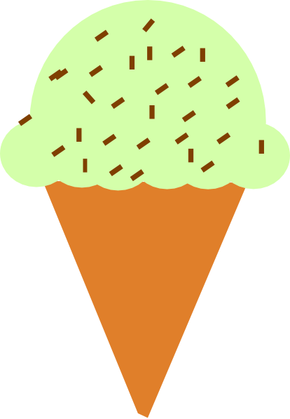 Ice Cream Cone With Sprinkles Clip Art At Vector Clip