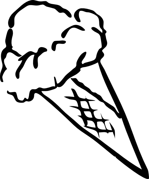 Ice Cream Outline Clip Art At Vector Clip Art Online