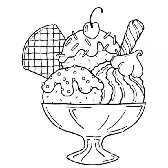 Ice Cream Sundae Clip Art Black And White Funny Pics