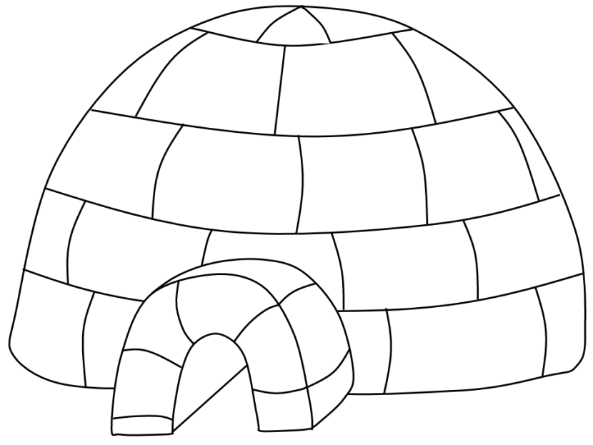 Igloo Coloring Pages Png