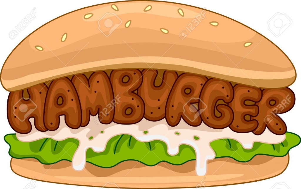Illustration Of A Juicy Hamburger Stock Photo Picture And Royalty