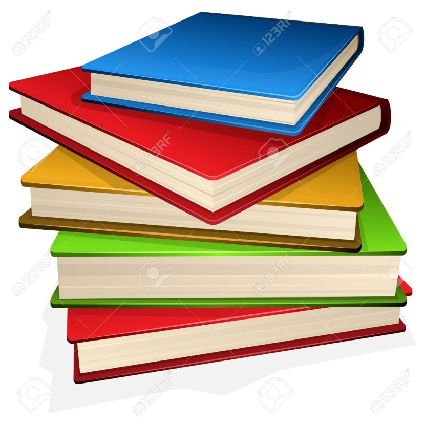Illustration Pile Of Books Isolated On White Royalty Free Cliparts