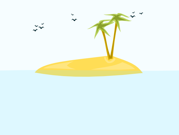 Image Gallery For Cartoon Tropical Island Clipart