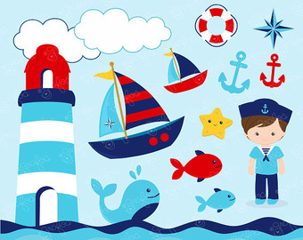 Image Gallery For Kids Nautical Clipart