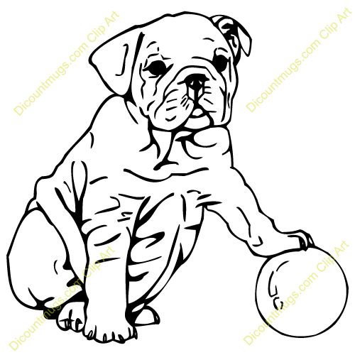 Image Gallery For Puppy Bulldog Clipart