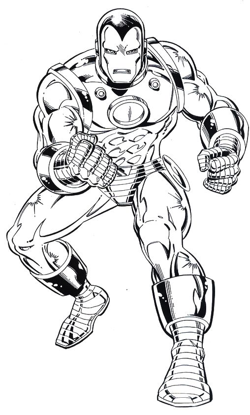 Iron Man Alert Coloring Page Coloring Pages Pinterest