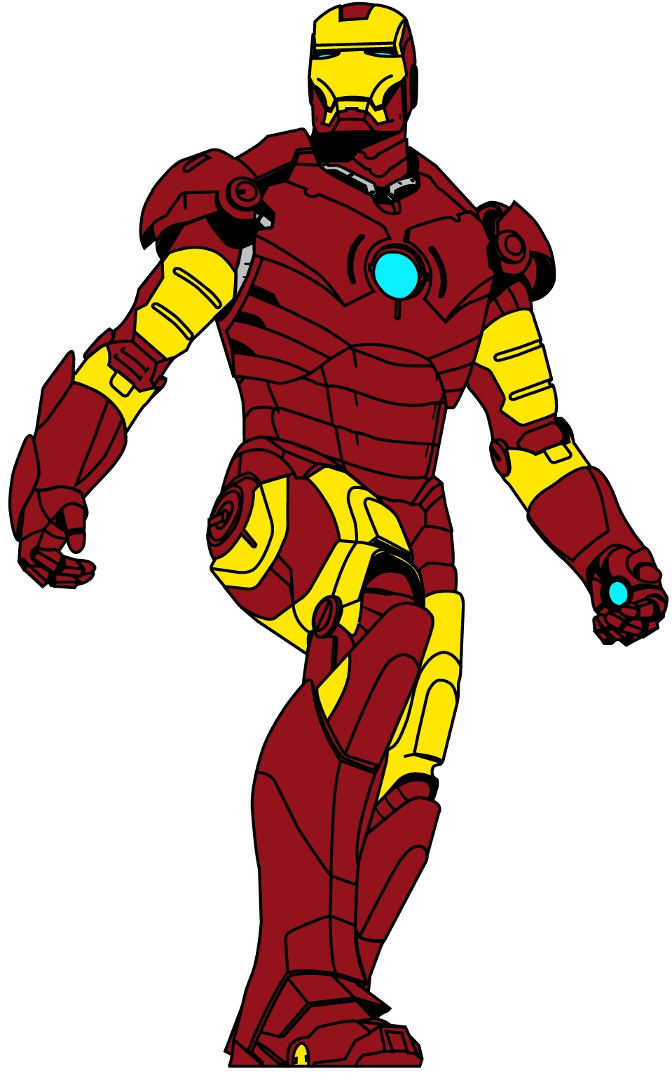 Best Iron Man Clip Art #6128 - Clipartion.com