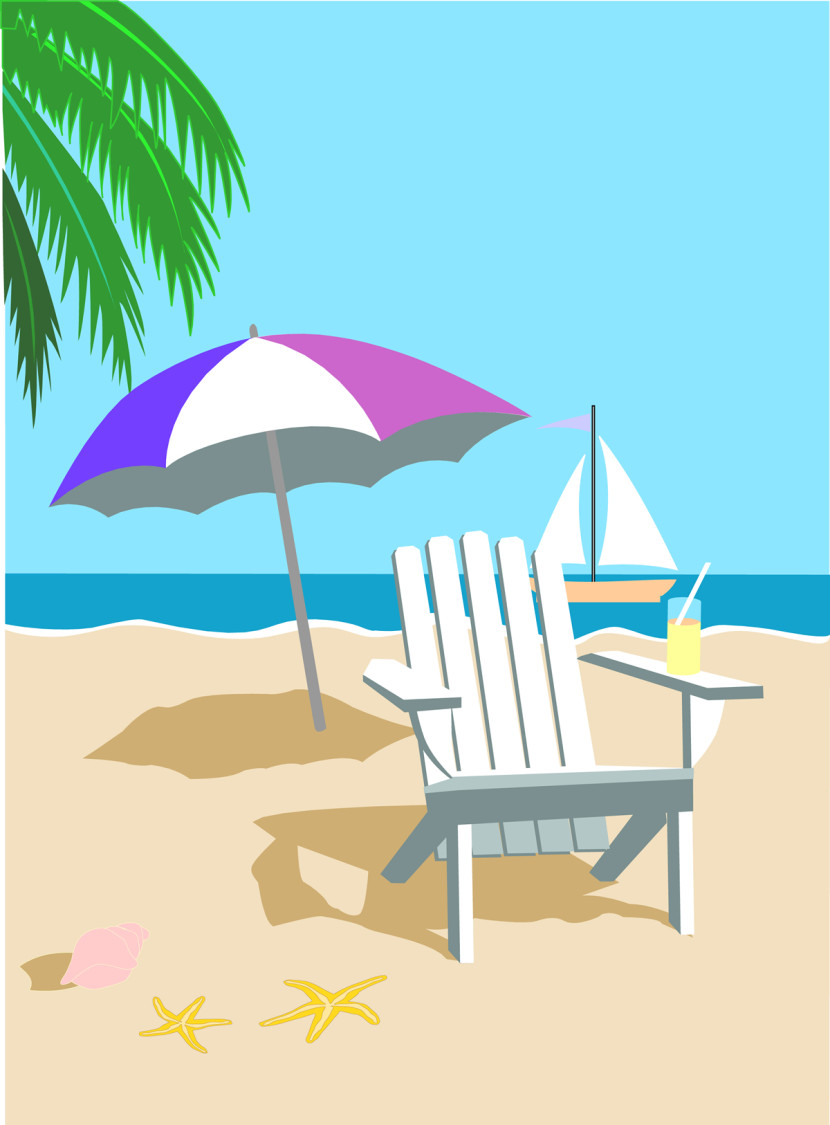 Island Vacation Clipart