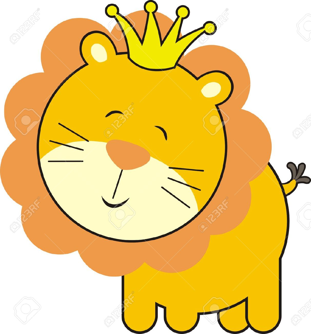 Isolated Baby Lion King Royalty Free Cliparts Vectors And Stock