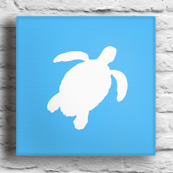 Items Similar To Custom Sea Turtle Silhouette Painting On Etsy