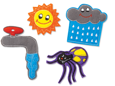 Itsy Bitsy Spider Storytelling Puppets At Lakeshore Learning