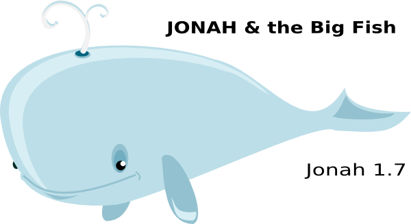 Jonah And The Big Fish Clip Art At Vector Clip Art