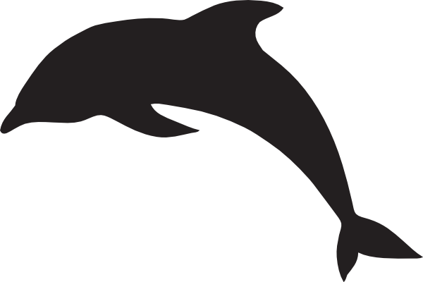 Jumping Dolphin Outline