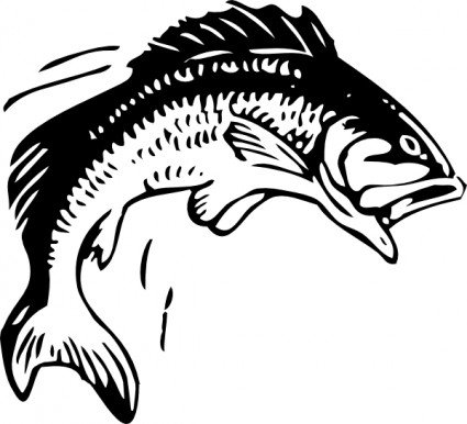 Jumping Fish Clip Art Free Vector In Open Office Drawing