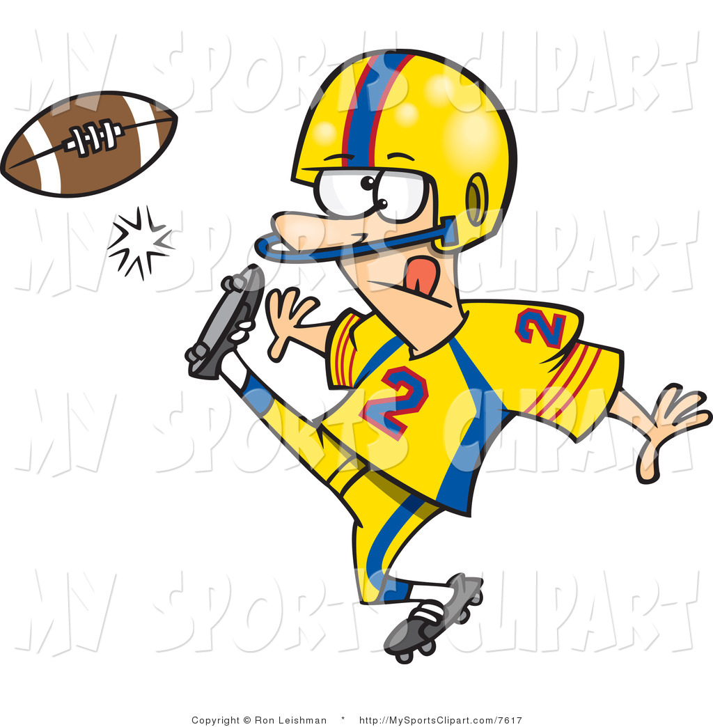 Kid Football Player Clipart Free Clipart Images