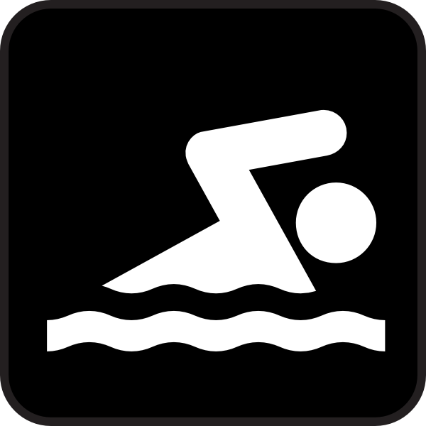 Kid Swimming Clipart Black And White Free