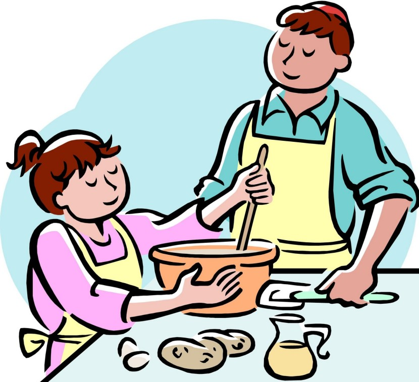 Kids Cooking Clipart Black And White Free