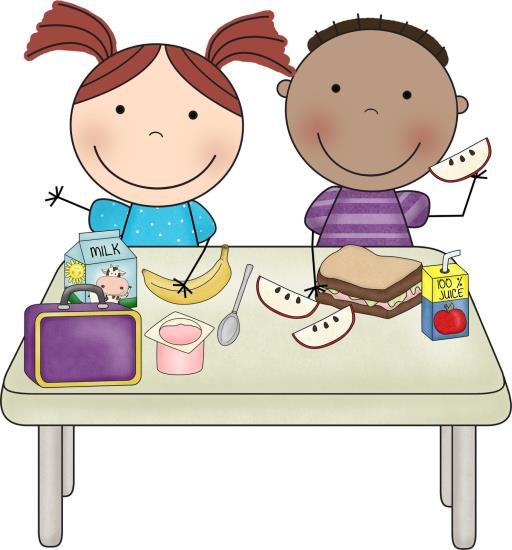 Kids Eating Lunch Clipart