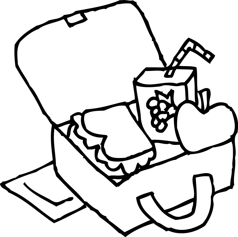 Kids Lunch Clipart Black And White Free Clipart