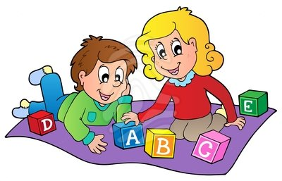 Kids Playing Blocks Clipart Free Clipart Images