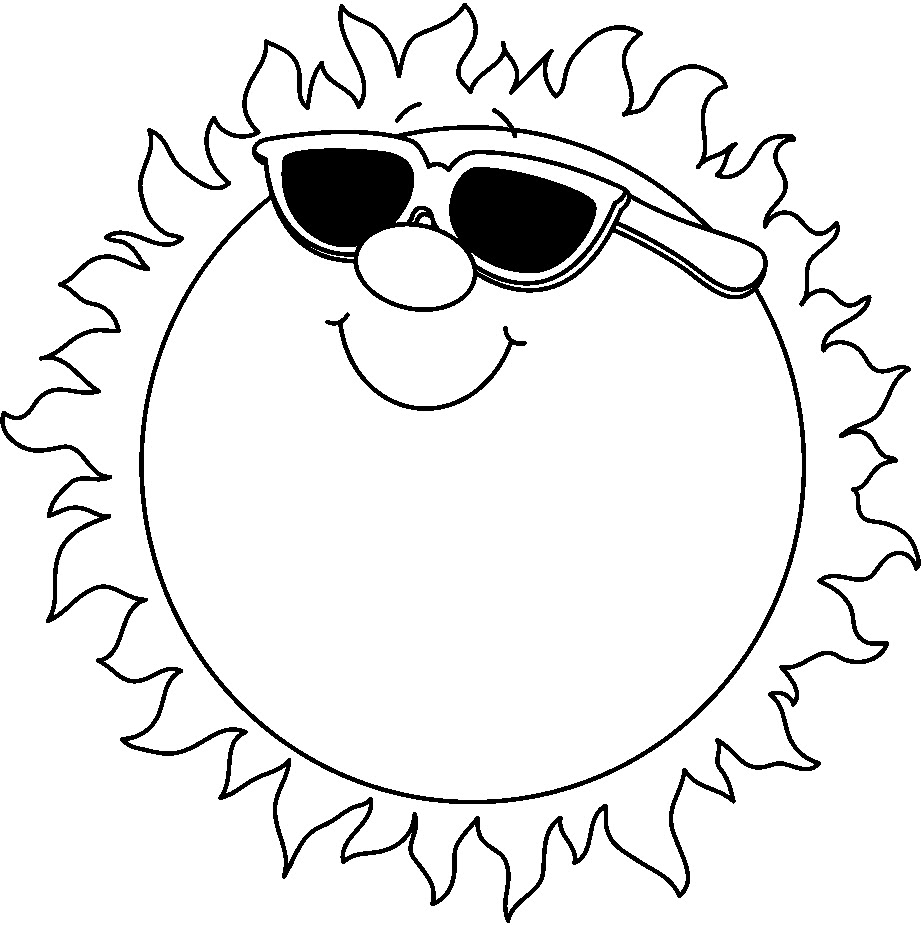 Kids Summer Clipart Black And White Free Clipart