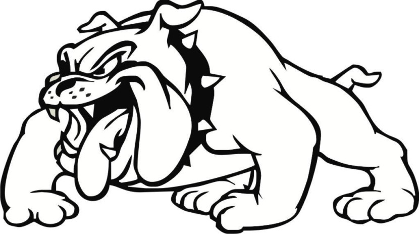 Lady Bulldog Mascot Clipart Vector Of A Cartoon Wearing Clipart