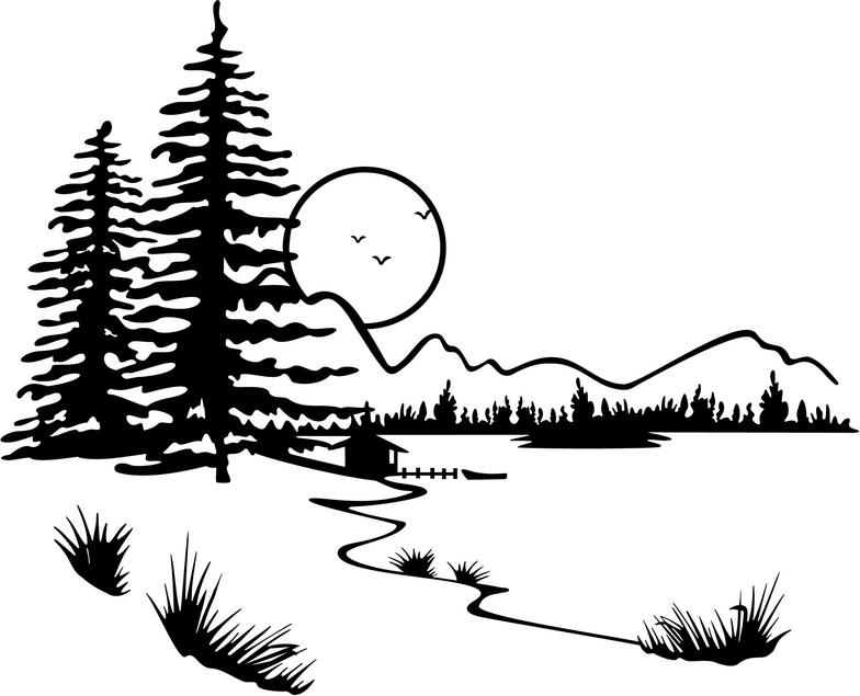 Lake Clipart Black And White Free Clipart Images