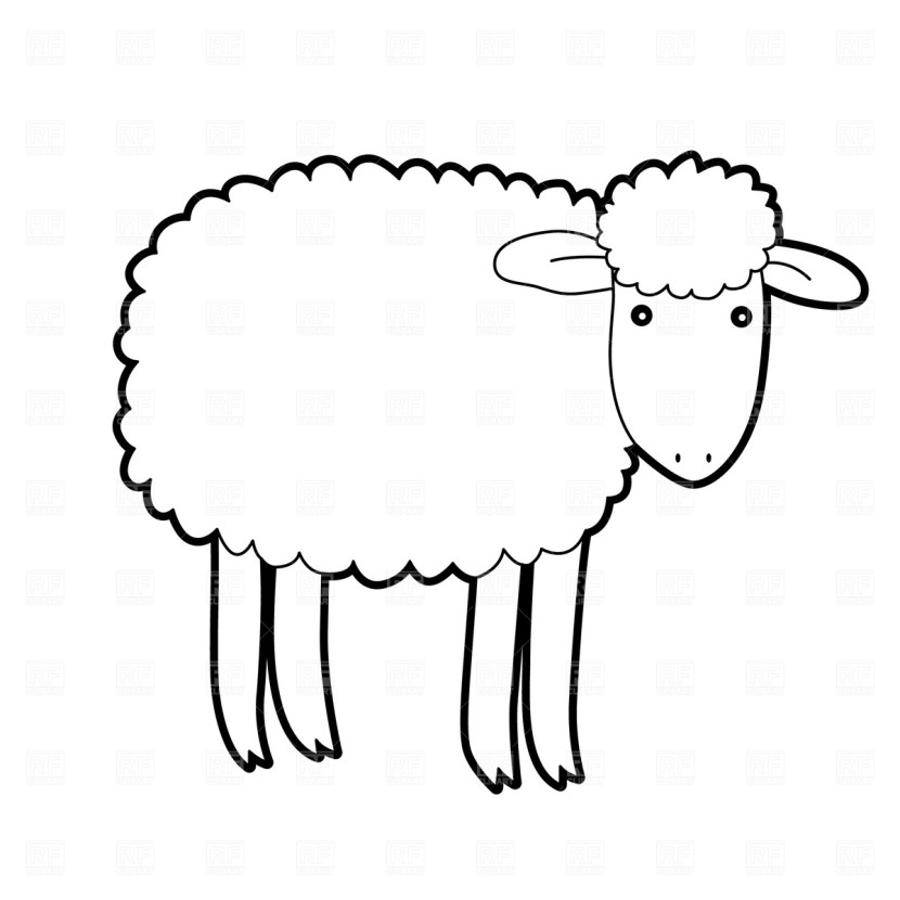 Lamb clip art black and white free clipart images