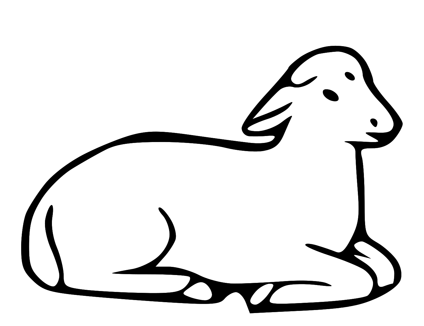 Line Drawing Of Sheep Face : Best lamb clipart clipartion