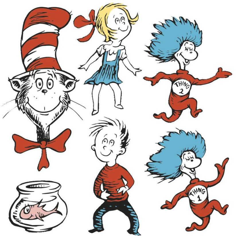 Cat In The Hat Clipart: Dr Seuss Character Clipart