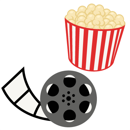 Large Movie Reel And Popcorn Png