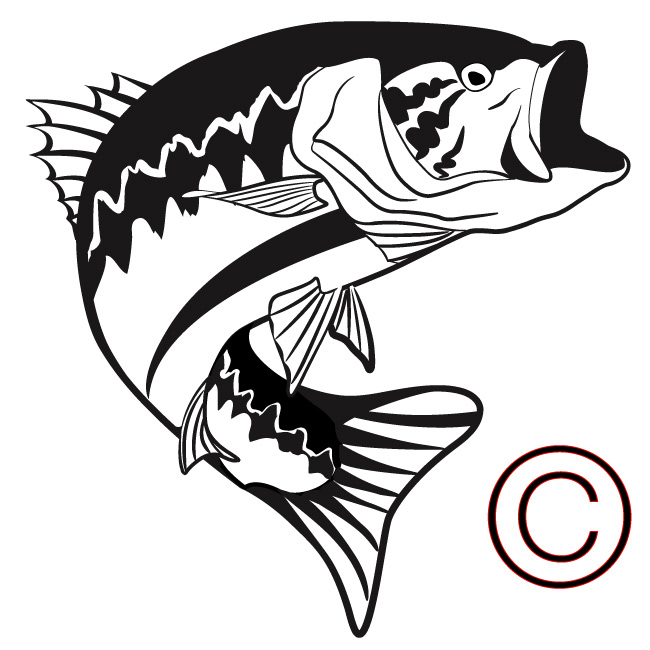 Largemouth Bass Fish Clip Art