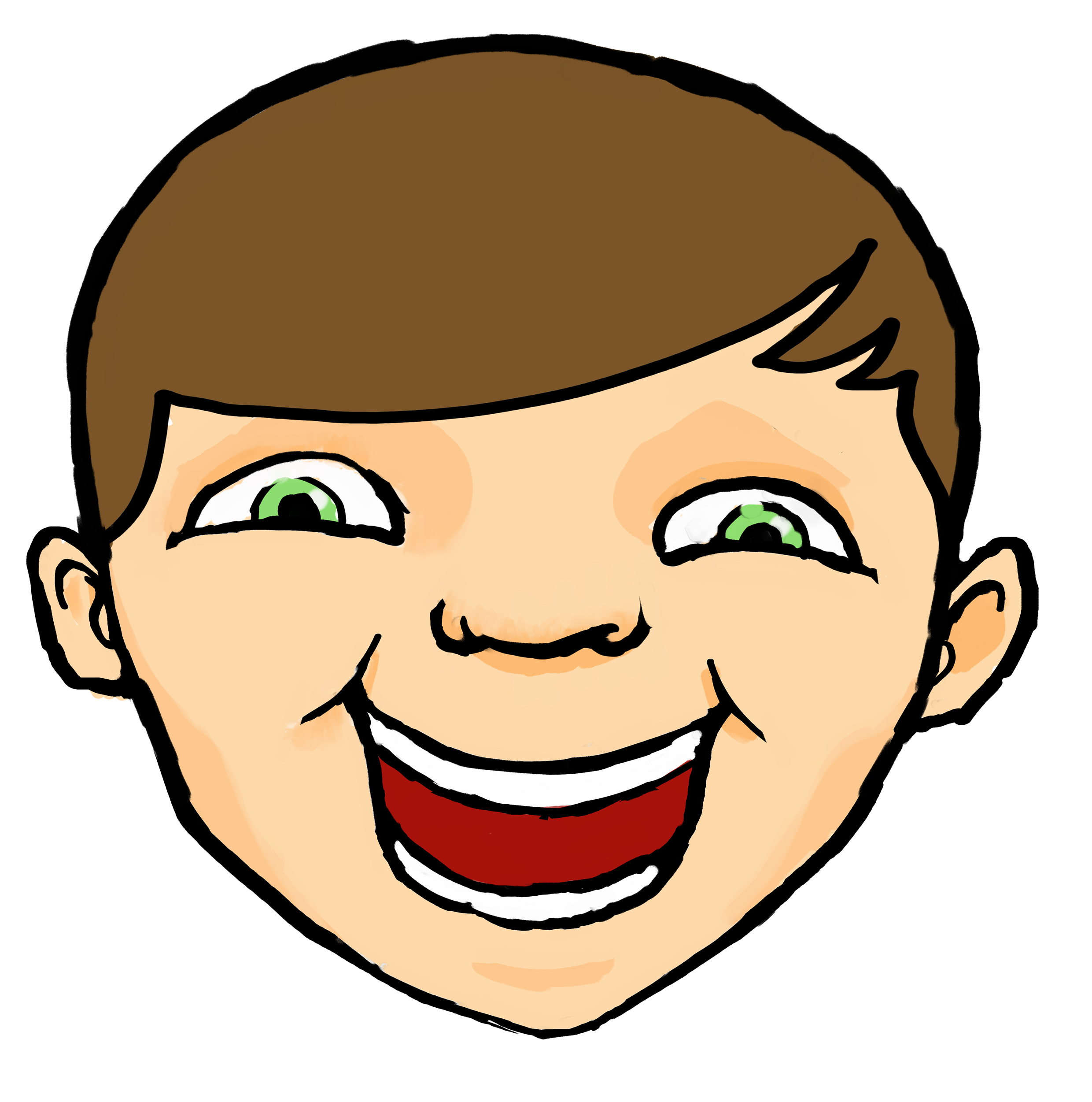 Best laughing face clip art 18161 - Clipart visage ...
