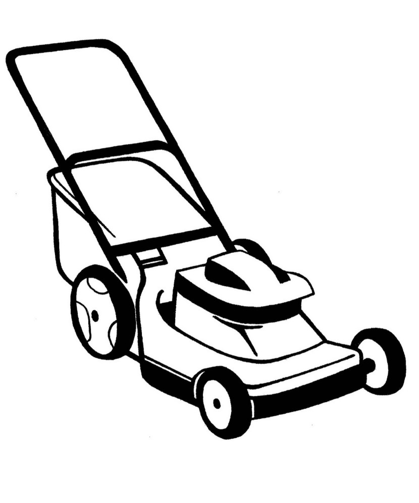 Lawn mower clipart for Free online drawing