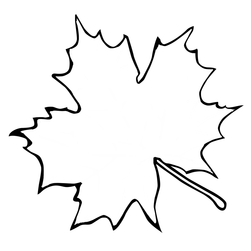 Leaf Outline Printable Az Coloring Pages