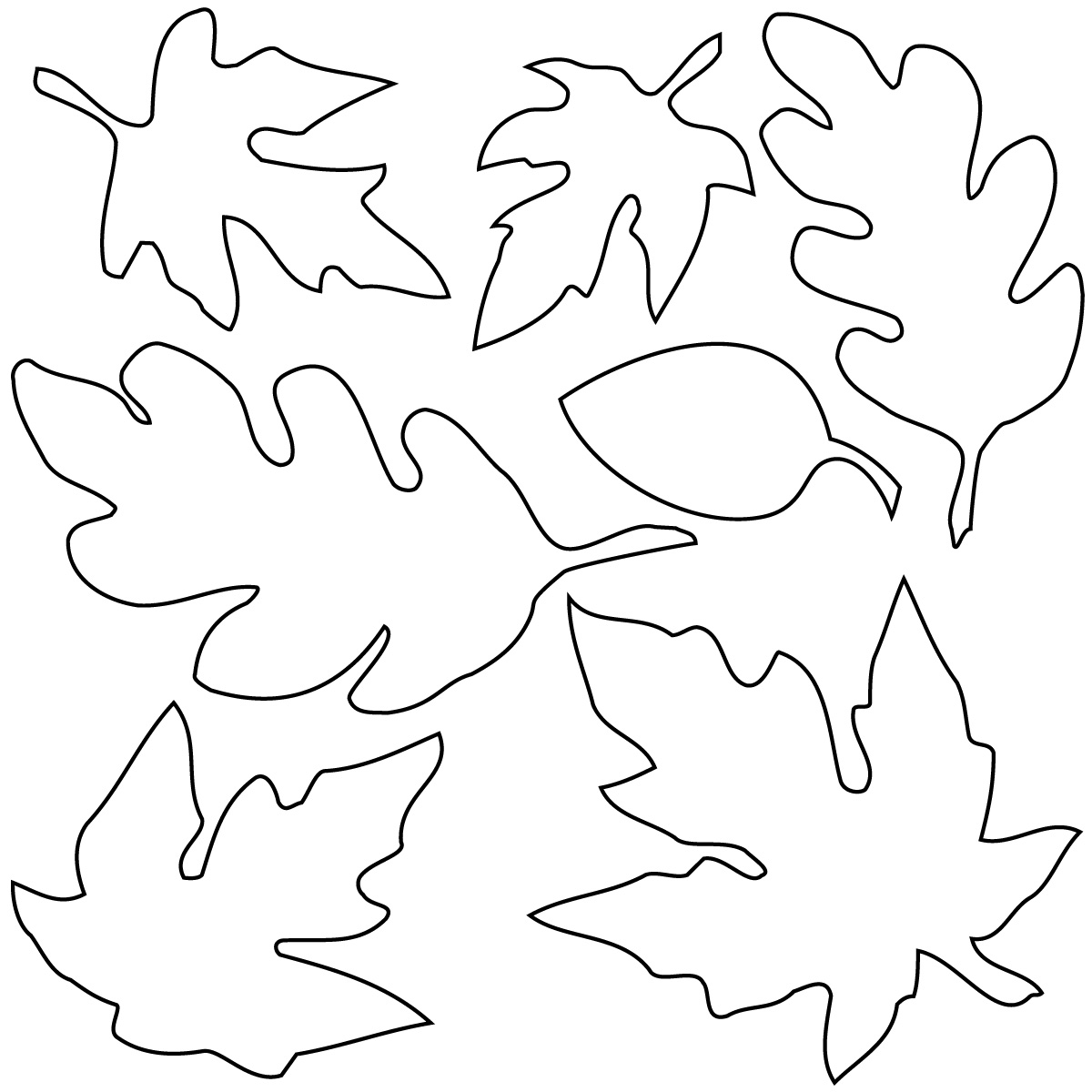 Best fall leaves clip art black and white 21680 - Leaves paintings and drawings ...