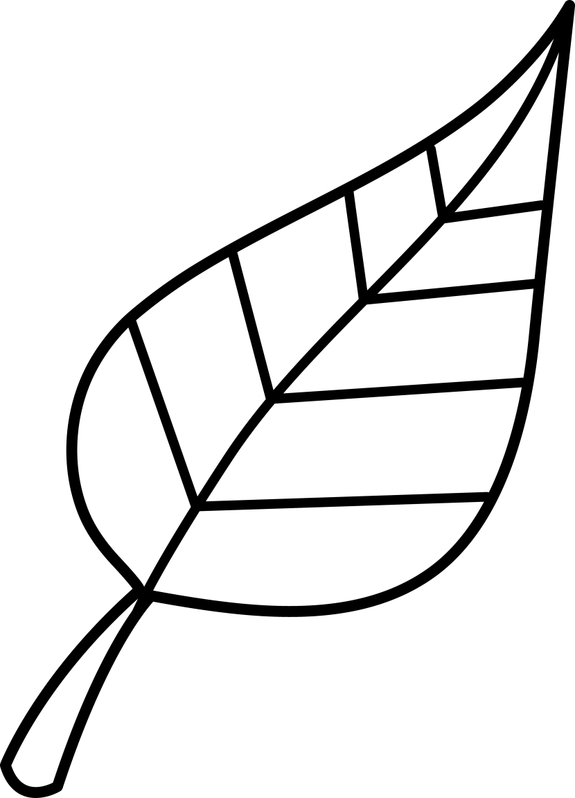 Leaves Clipart Black And White