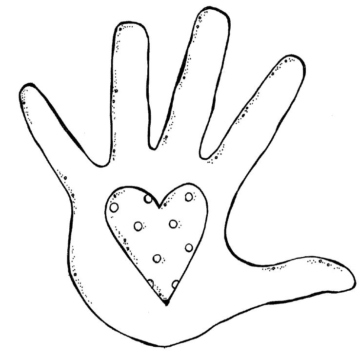 Left Hand Clip Art Outline Left Handprint Clipart Thank You
