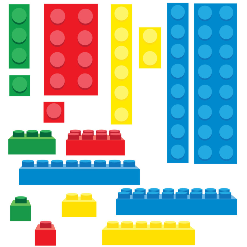 Lego Building Blocks Clip Art 5