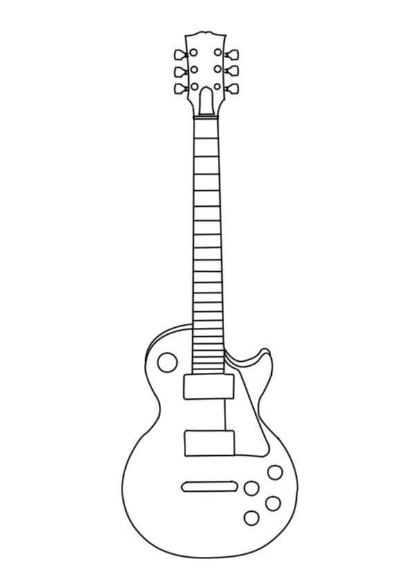 Guitar outline for Bass guitar body templates