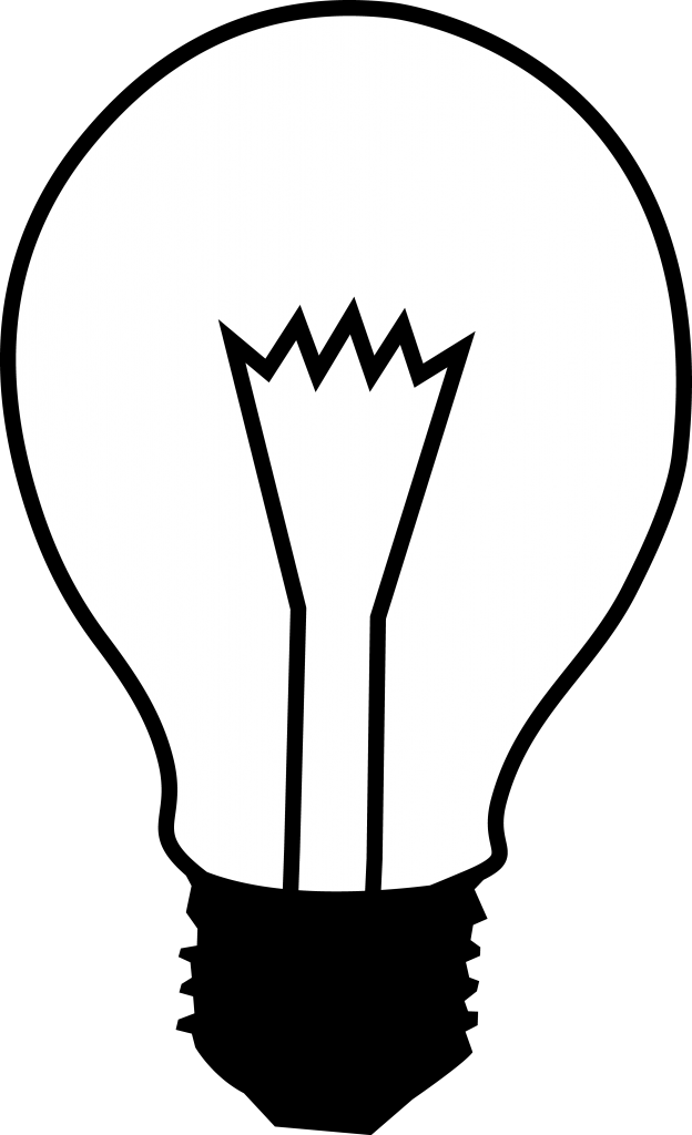 Light Bulb Clip Art Black And White Vintage Free