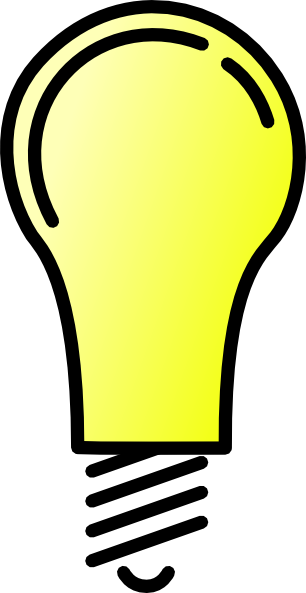 Light Bulb Clipart Black And White Free Clipart