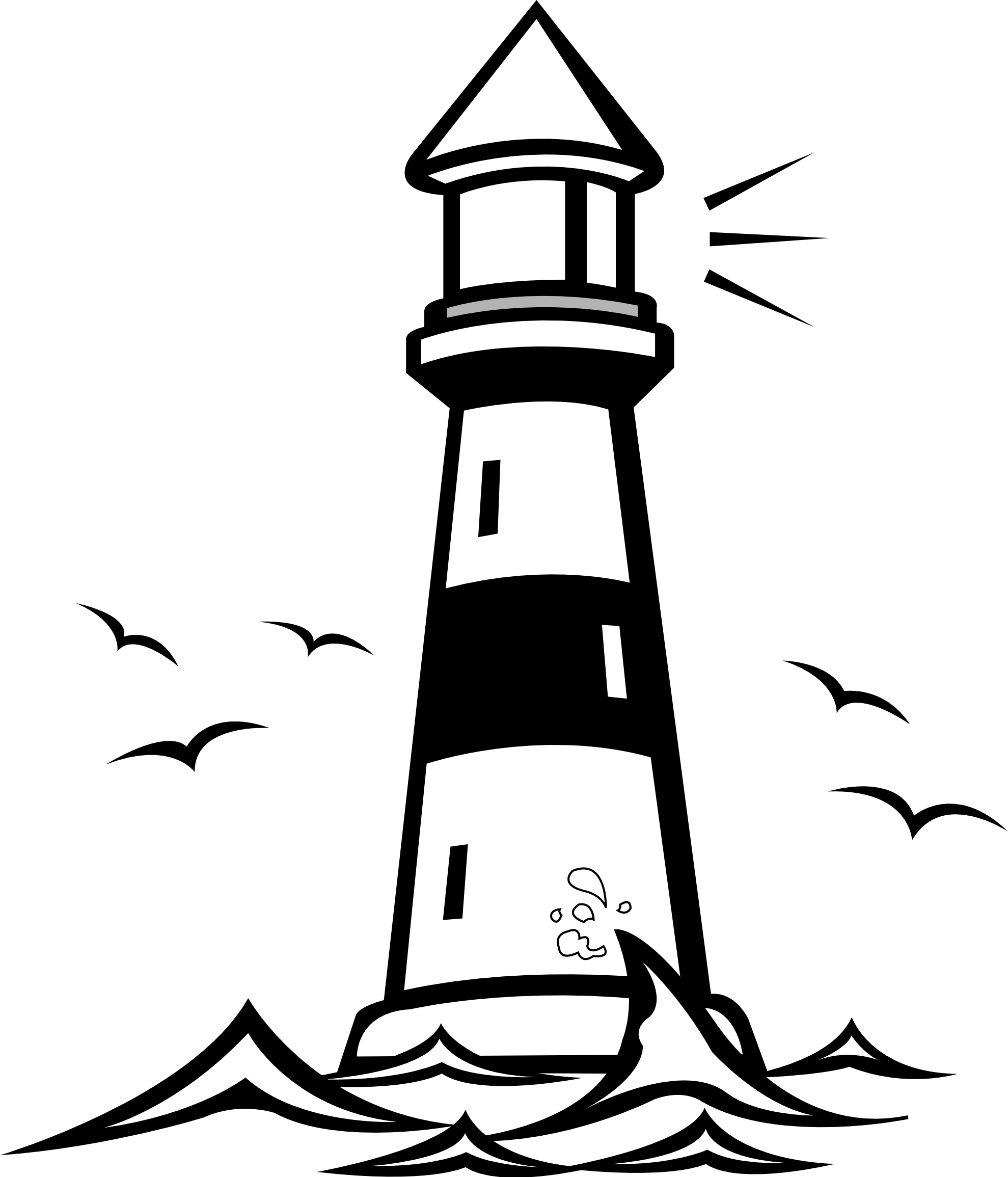 image about Free Printable Clip Art named Perfect Lighthouse Clipart #9349 -
