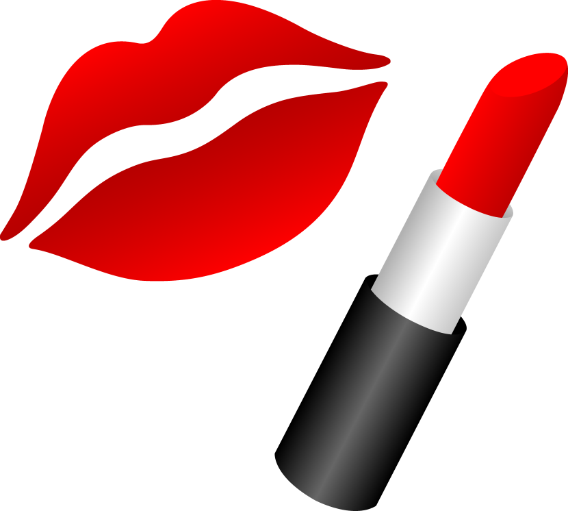 Lips With Red Lipstick Free Clip Art