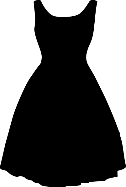 Little Girl Dress Clipart Black And White Free