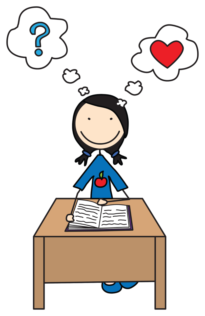 Little Girl Reading Clipart Free Clipart Images