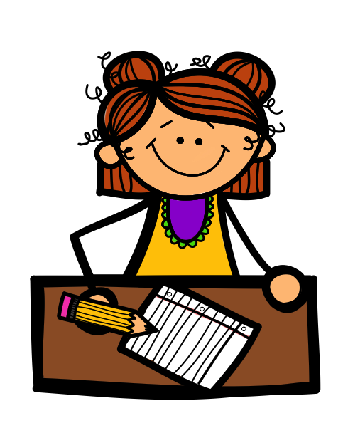 Little Girl Writing Clipart Free Clipart Images