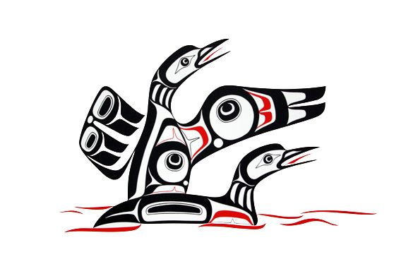Loons Print Glen Rabena Northwest Coast Native Art Clipart Free