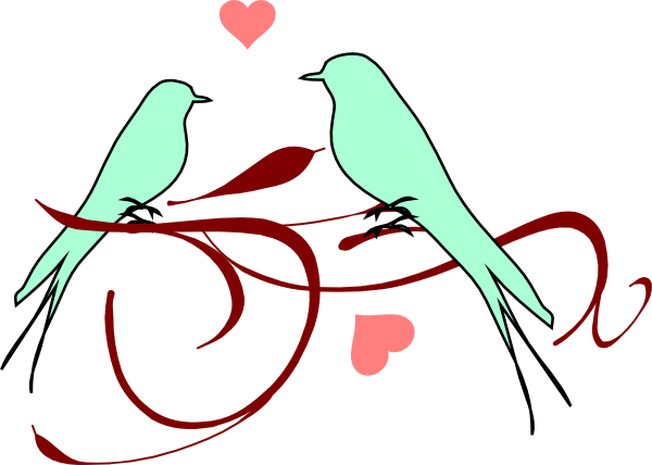 Love Birds Clipart Wedding Free Clipart Images