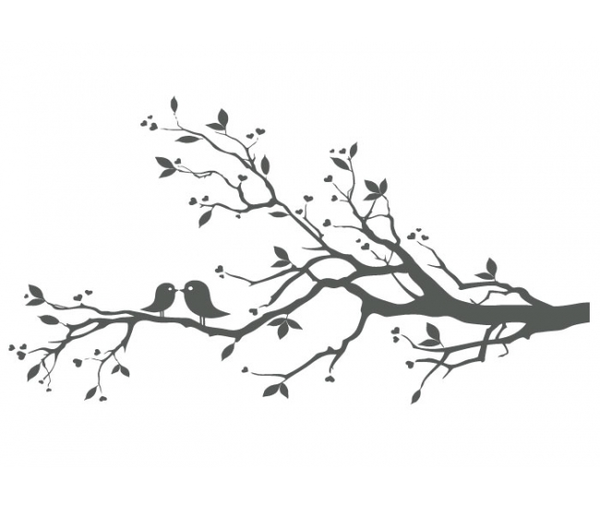 Love Birds On Branch Clipart Clipart Free Download Clipart